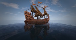 Fantasy ship #WeAreConquest Minecraft Map & Project