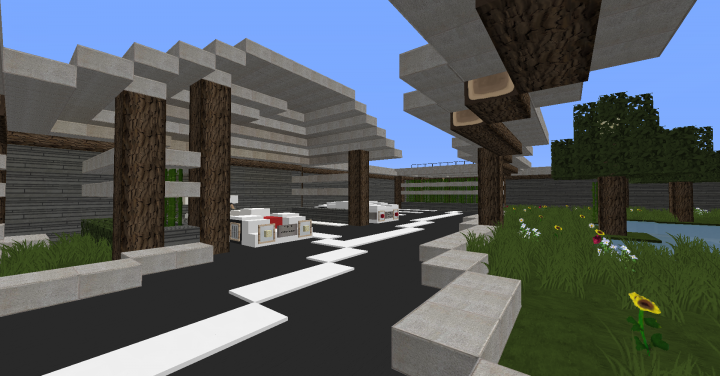Big modern house by matmorejeux minecraft project for Big modern houses on minecraft