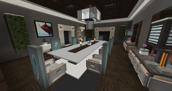 Dining room interior design 1 minecraft project for Dining room designs minecraft