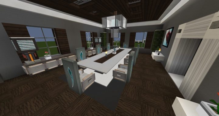 Dining room interior design 1 minecraft project for Minecraft dining room designs