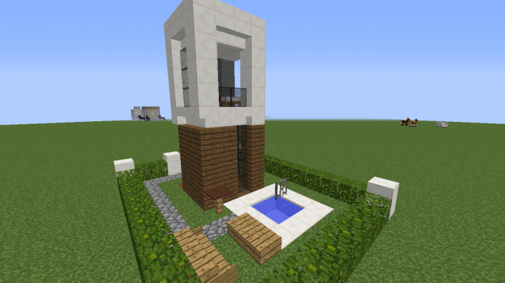 Modem house 4x4 minecraft project for Casa moderna 4x4