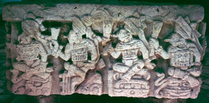 Altar Q rulers, R-L - K'ahk' Chan Yopaat, K'ahk' U Ti' Witz' K'awiil, Waxaklajun U Baah K'awiil, K'ahk' Joplaj Chan K'awiil