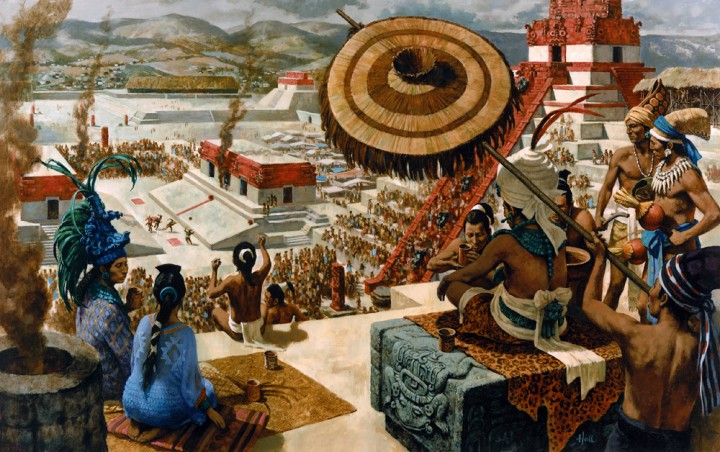Reconstruction painting by Tom Hall