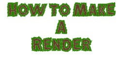 How to make a Render (15 Steps) (Simple Tutorial) (Pictures) (POP REEL) Minecraft Blog Post