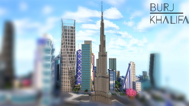 Front of the skyscrapper