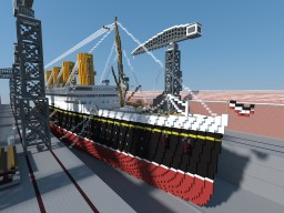 Ocean liner SS Dusseldorf. Minecraft Project