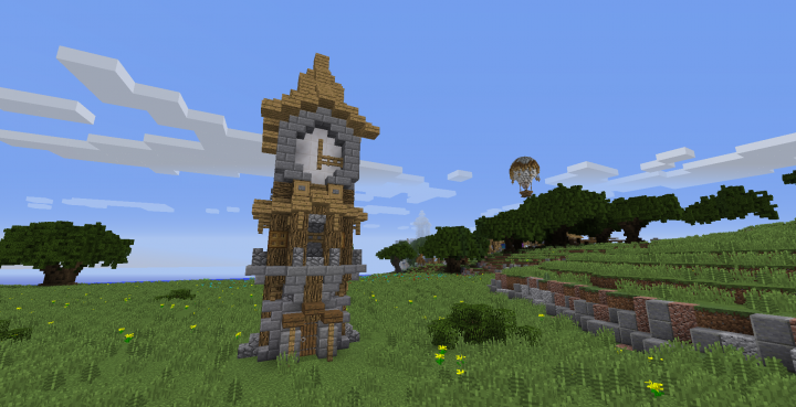 Simple Medieval Clock Tower Minecraft Project
