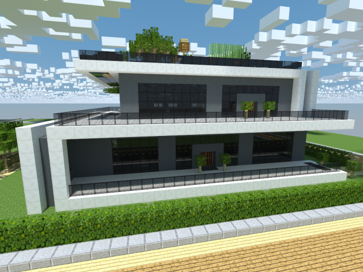 Modern minimalistic house minecraft project for Minecraft modern house download 1 8