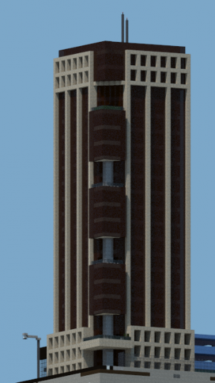 Domus tower minecraft project for Domus design center