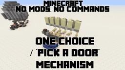 """One Choice / """"Pick a Door"""" Machine Minecraft Blog"""