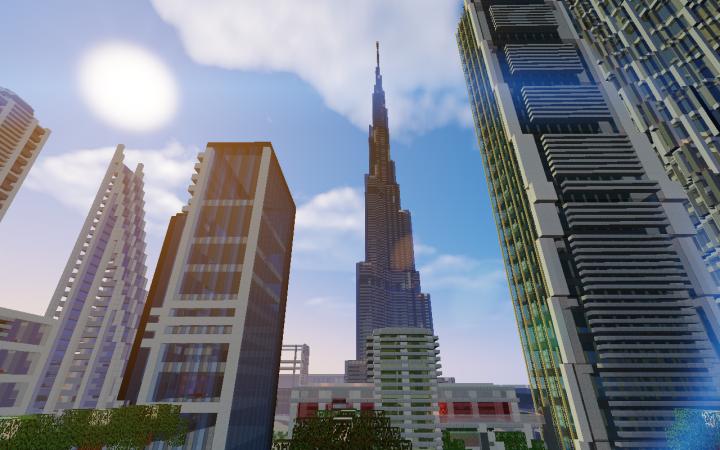 Burj Khalifa Minecraft Project
