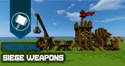 Medieval Siege Weapons Tutorial Minecraft Map & Project