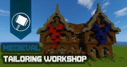 Medieval Tailoring / Weavers Workshop Minecraft Map & Project