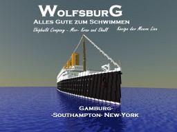 Germany ocean liner SS Wolfsburg Minecraft Project