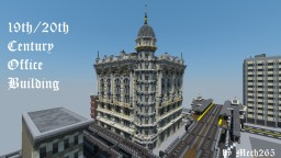 1890-1900's Victorian Era Office Building Minecraft