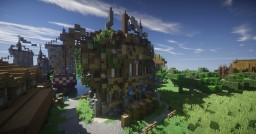 """Medieval tavern """"Dirty octopus"""" of the port Minecraft Map & Project"""