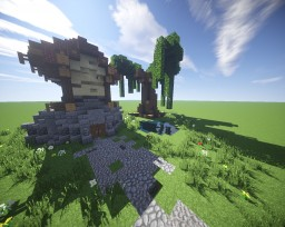 Real Medevil House And Huge Tree MCEdit Schematic Minecraft Map & Project