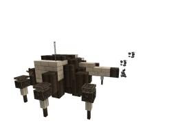 3 Sci-fi mechs #WeAreConquest Minecraft Map & Project