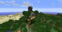 Cool Treehouse Minecraft Map & Project
