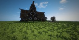 My First Medieval House Minecraft Project