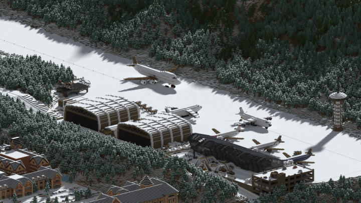 Hope airport - taken in 2014. Will update render with new changes.