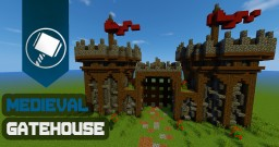 Medieval Gatehouse Tutorial Minecraft Map & Project