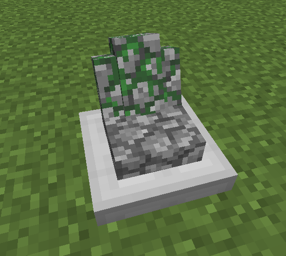 A gravestone spawned when you die
