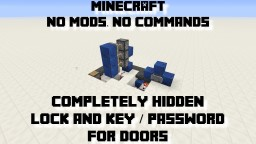 Hidden Lock & Key Mechanisms (Great for Hidden Bases!) Minecraft Blog Post
