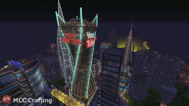 The MCC Crafting Youtube Twisted Tower Skyscraper.