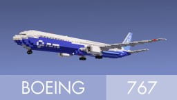 Boeing 767-400ER Minecraft Map & Project