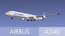 Airbus a340-600 Minecraft Map & Project