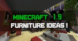1.9 Update Furniture Ideas! Minecraft Map & Project