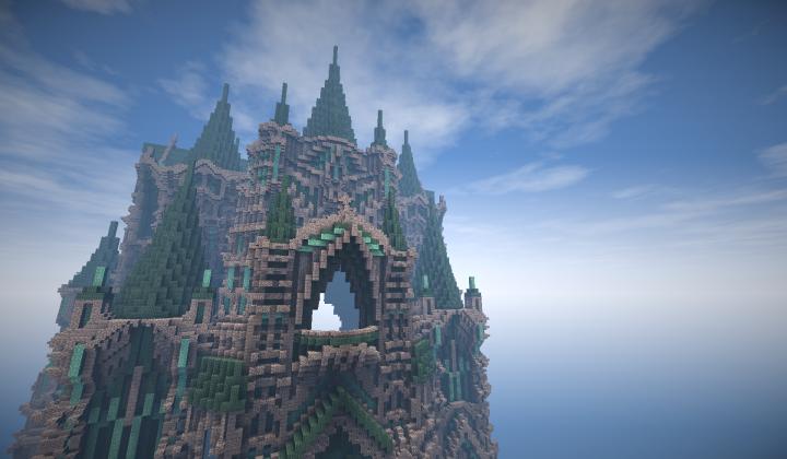 Prismarine Castle Minecraft Project