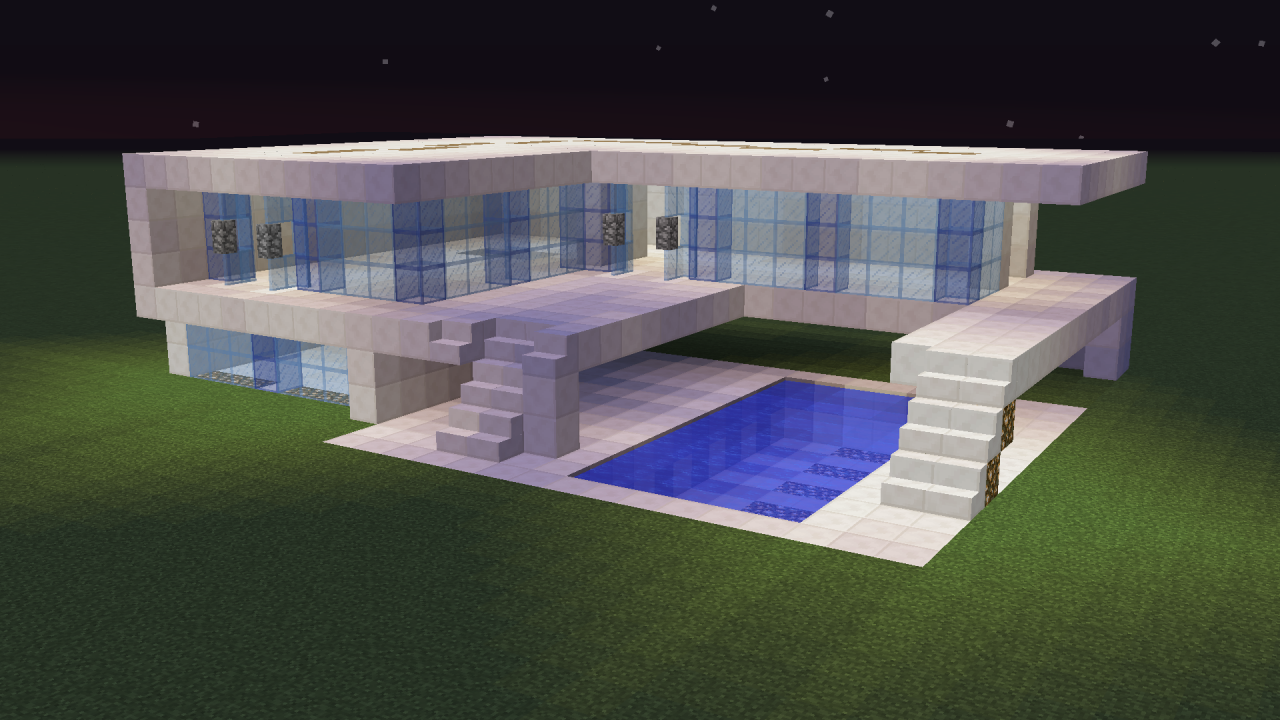 Modern house happy 1 9 minecraft project for Minecraft modern house 7x7