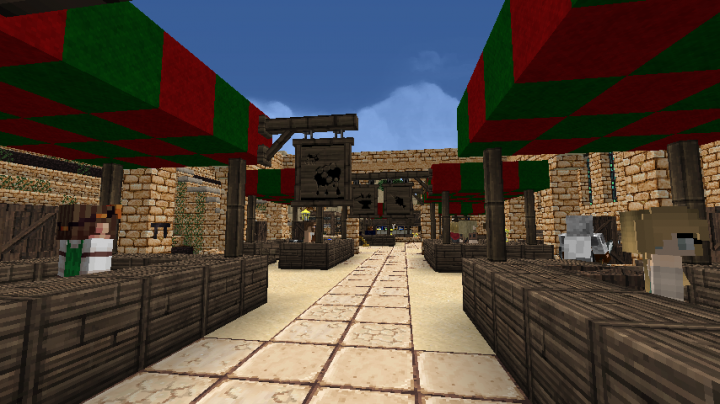 Marketplace, with oh so many goods to buy and sell!