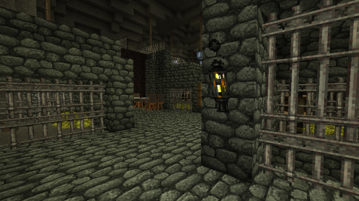 Prisons below the city.