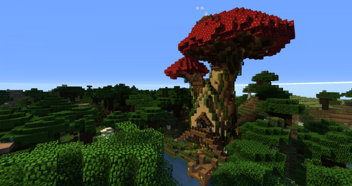 how to grow huge mushrooms minecraft