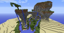 Mountainy waterfall Oasis (Desert Detour - Entry) Minecraft Project