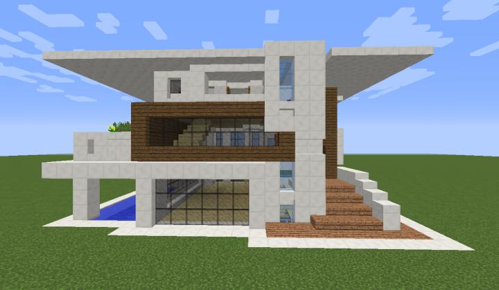 Modern quartz house Minecraft Project