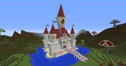 [Brawl.com] Minecraft Party - Princess Peach's Castle from Super Mario Minecraft