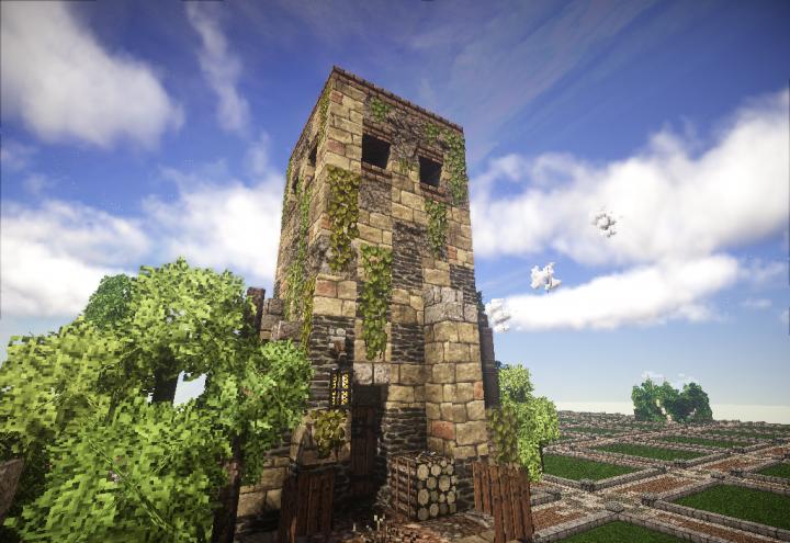 roman watchtower minecraft project