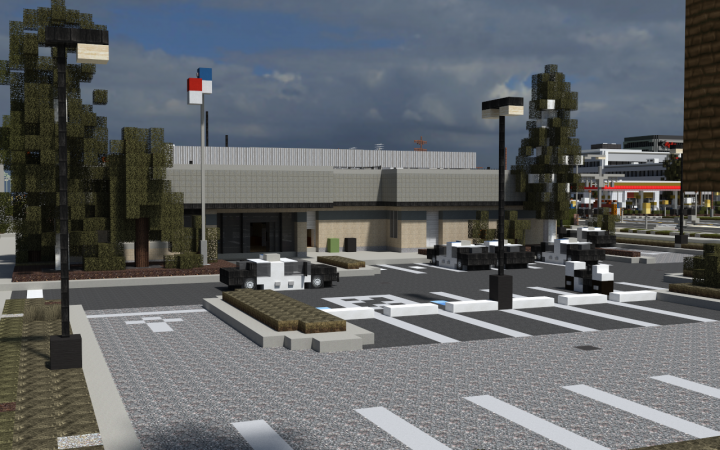 how to build a police station on minecraft