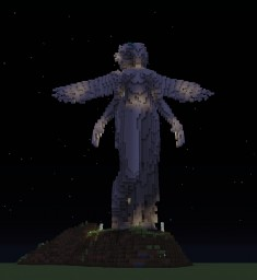 Angel statuette Minecraft Map & Project