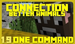 Better Animals | 1.10+ One Command | Connection Vanilla Mod Minecraft Map & Project