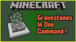 Gravestones One Command Creation | Minecraft 1.9 / 1.10 / 1.11 Minecraft Map & Project