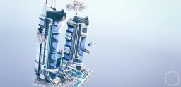 Futuristic tower - GoCreative Plot contest (3rd) Minecraft
