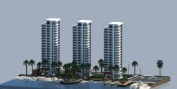 """Blue Coast"" Apartments Minecraft Map & Project"