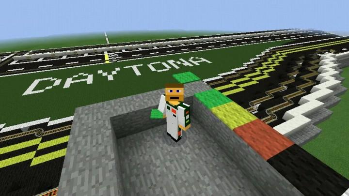 Dale Jr at Daytona International Speedway