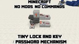 Tiny Lock&Key Mechanism for Doors & Other Redstone! Minecraft Blog
