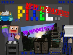 Tron Pixels [32x32] 1.8.9 BIG 3D UPDATE!! Minecraft Texture Pack